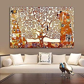 Douyuan Gustav Klimt Arbre De Vie Toile Peinture Murale Art