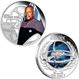 Power Coin CAPTAIN BENJAMIN SISKO DEEP SPACE NINE Space Station Star Trek Two Silber Münze Set 1$ Tuvalu 2015