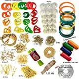 #6: slik thread, silk thread jewellery materials, silk thread jewellery making kit, jewellery making kit, jewellery making materials, jewellery making assessoriecs, silk thread kit, full of silk thread jewellery making materils (17 items) FREE TUTORIAL CD