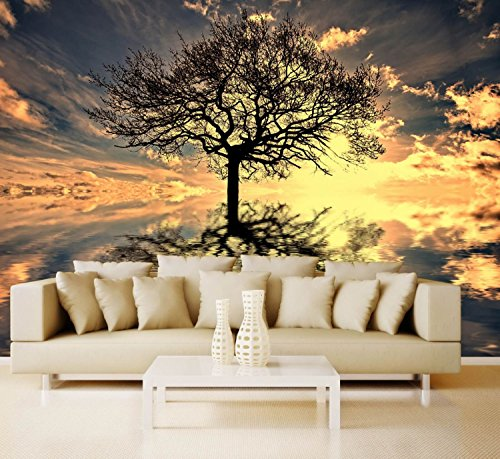 Preisvergleich Produktbild Vlies XXL-Poster Tapete Fototapete Natur Lebensbaum Material Vlies selbstklebend, Größe 140 x 100 cm