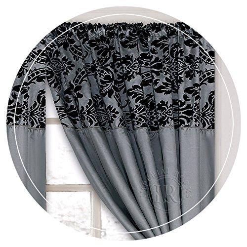Half Flocking Curtains, 66×72 & 90×90, Many Colours (grey, 90×90)