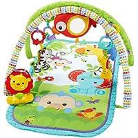Fisher-Price CHP85 Rainforest-Freunde 3-in-1 Spieldecke tragbare Krabbeldecke inkl., ab nehmbaren Spielzeugen Babyerstausstattung, ab 0 Monaten preisvergleich bei kleinkindspielzeugpreise.eu