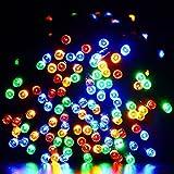 Solar lichterkette, easyDecor 22m 200 LED 8 Modi, Wasserdichte Lichterketten Außenbeleuchtung Beleuchtung für Außenlichterkette Draussen, Garten, Weihnachten,Patio, Hof, Haus, Bäume, Parteien, Jäten, Urlaub Dekorationen (Mehrfarbig)