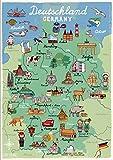 Poster Deutschland Kinderzimmer Deutschlandkarte Germany DIN A3