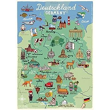 Poster Deutschland Fur Kinderzimmer Und Kindergarten