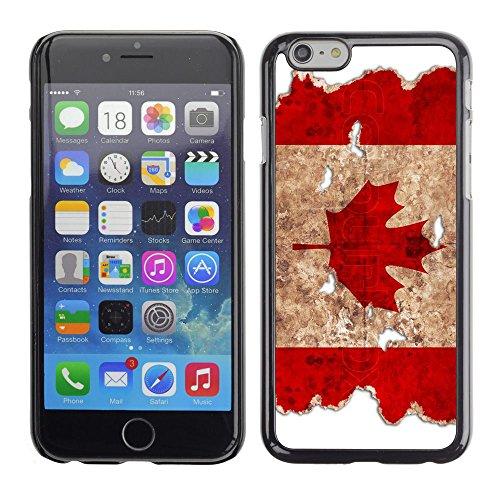 Graphic4You Vintage Uralt Holz Kanada Kanadisch Flagge Design Harte Hülle Case Tasche Schutzhülle für Apple iPhone 6 Plus / 6S Plus Design #4