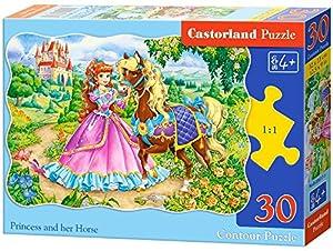 Castorland B-03617 - Sierra clásica (30 Piezas), diseño de Princesa y Caballo