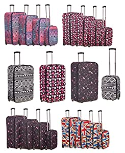Suitcase Travel Bag Luggage Trolley Lightweight Case Cabin Carry On X Large Medium