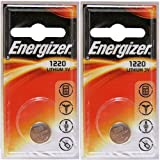 2 X Energizer Cr1220 3V Lthium Coin Cell Battery Dl1220 Car Keys Van Key Fob by Energizer