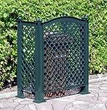 KHW 44003 Mülltonnenspalier, grün