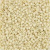 Toho Perlen Größe 8Japanische Rocailles blickdicht hell beige 10g