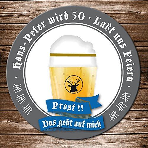 Einladung Geburtstag Motiv Bierglas Prost Bieruntersetzer Karte originelle individuelle Einladungskarte ()