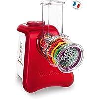 Moulinex DJ812510 Découpe Légumes Électrique Fresh Express Max 5 en 1 Râper Fin Épais Trancher Gratter Fromage Mandoline…