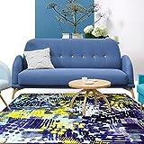 GXQ Abstrakte Kunst Teppich Wohnzimmer Schlafzimmer Kopfteil Multi Size Teppich (Farbe : A, größe : 200x300cm(79x118inch))