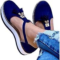 EVR Sandales Bout Fermé Femme Casual Mocassins Sandales Bride Cheville Chaussures De Marche Plateforme Daim avec…