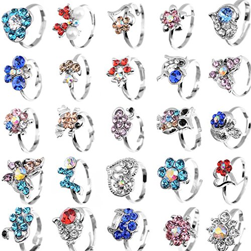 yantu-children-kids-boys-20pcs-cute-crystal-silver-plated-adjustable-rings-jewelry