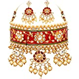 #2: Sukkhi Padmavati Inspired Meenakari Handcrafted Choker Necklace Set for Women