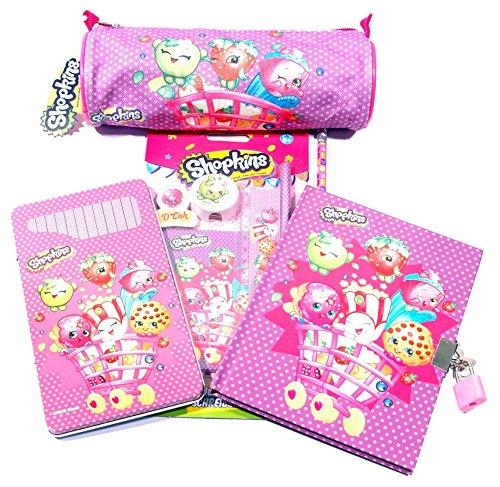 Shopkins Mega 19PC Bundle Character Stationery Bumper Pack / GIFT / SCHOOL / PARTY BAGS