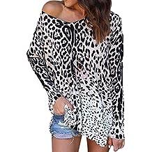 BaZhaHei-Blusa de mujer T-Shirt by Long Sleeve Mujeres Loose Top Camiseta de
