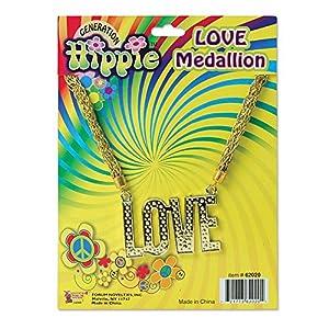NEW LOVE NECKLACE 70S HIPPY FESTIVAL FANCY DRESS (accesorio de disfraz)