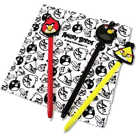 Stylets x3 + Chiffonnette 'Angry Birds' pour 3DS [Importación francesa]
