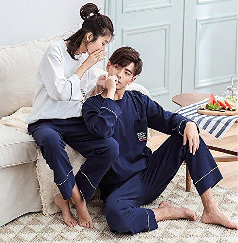 donne o uomini cotone set da pigiama 2 pezzi morbido casuale biancheria da notte, S-XXL Women