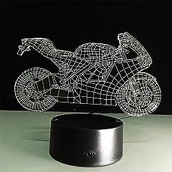 ATD® Illusione ottica 3D freddo abbaglia moto tasto di tocco Colore 7 che cambia la luce di notte LED Desk Lamp