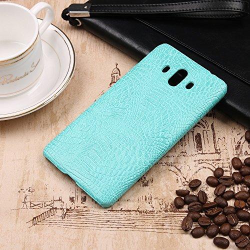 YHUISEN Huawei Mate 10 case, Luxury Classic Krokodilleder Muster [Ultra Slim] PU-Leder Anti-Scratch-PC Schutzhülle für Huawei Mate 10 ( Color : Pink ) Light Green