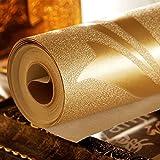 LXPAGTZ Hoja de oro continental fondos salón dormitorio televisión TV pared del fondo PVC proyectos especiales fondos de oro, largo 9.5 m * ancho 0.53m (² de 5 m) , pure wallpaper