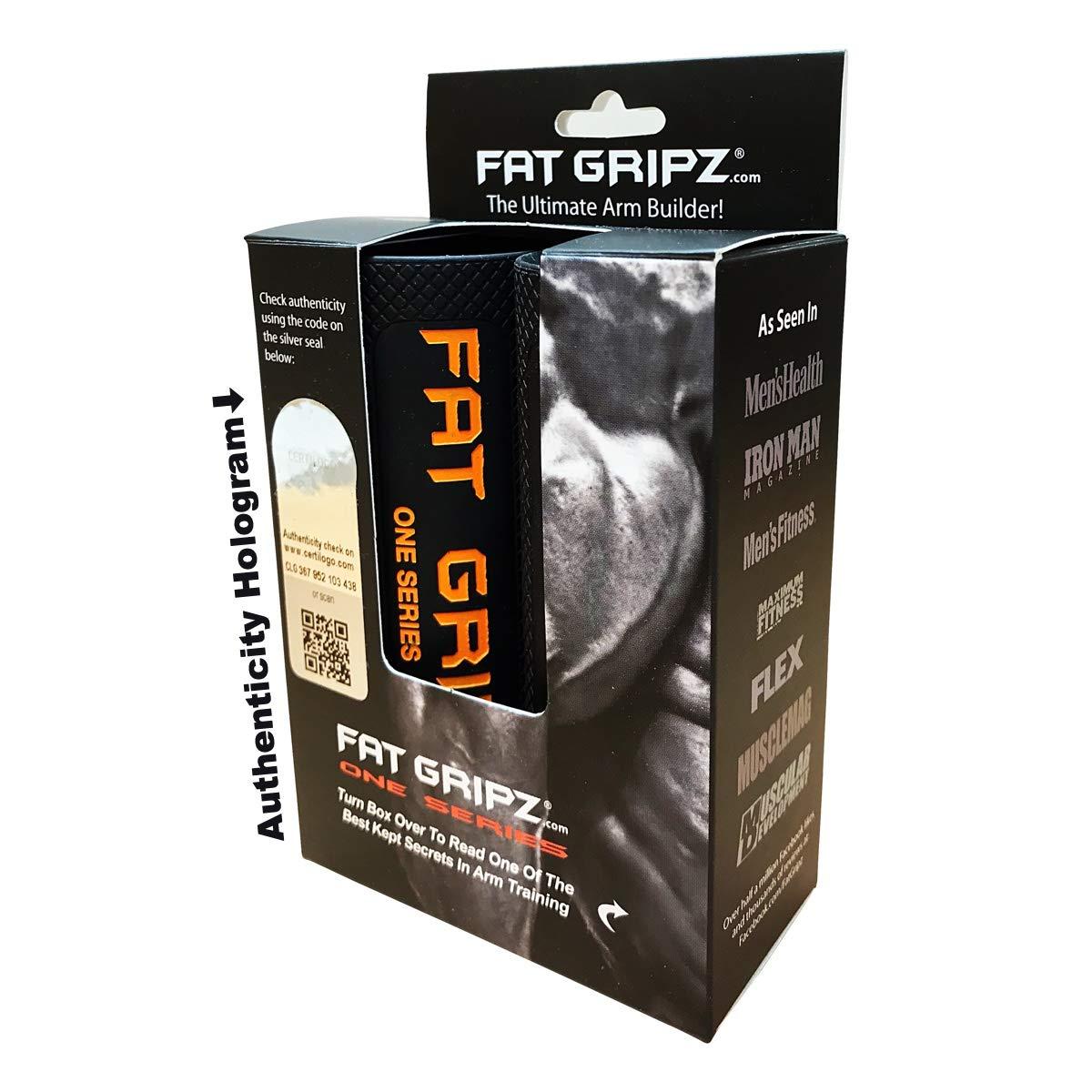 /Ø 7cm Orange Fat Gripz Extreme Hantelgriffe
