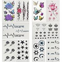 LILY10 impermeabile tatuaggio temporaneo nuovo design non tossico del nuovo maschio di rilascio, femmina star star falso tatuaggi temporanei
