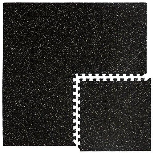 eyepower robuste Gummimatte 1,54qm Bodenschutzmatte inkl. Abschlussleisten erweiterbares Stecksystem...