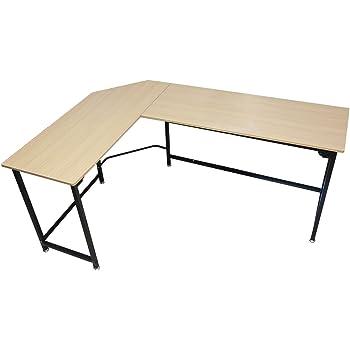 TOUCHXEL L Form Computertisch Ecke Schreibtisch Arbeitstisch Für Büro Und Zu  Hause (Esche)