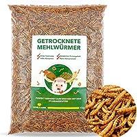 KohlRahm Mehlwürmer getrocknet 1kg Trockenfutter für Vögel proteinreicher Insekten Snack für Schildkröten,Reptilien und Fische