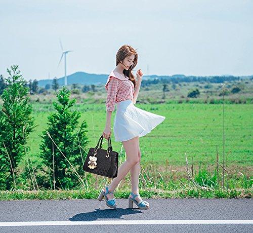 Sunas La borsa delle nuove donne di estate mette in mostra quattro insiemi del sacchetto di spalla del sacchetto delle donne / borsa + borsa + confezione della carta nero