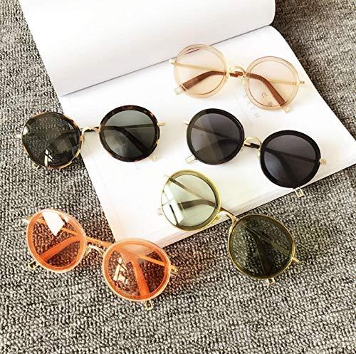 BHLTG Gezeitengläser der Sonnenbrille weibliche runde Gesichtsretro- Reise im Freien, die UVmodesonnenbrille 4 fährt