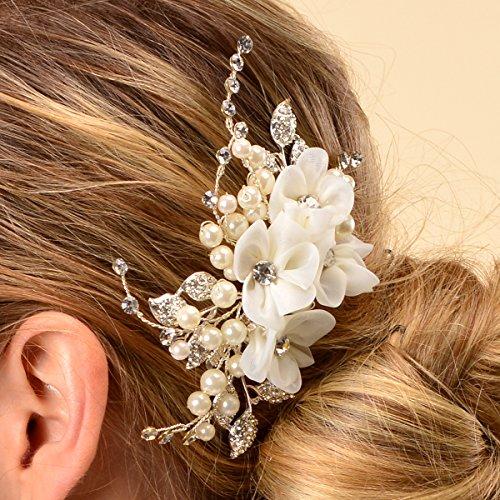 Remedios Beige Braut Haarschmuck Kamm Hochzeitssuite Kopfstück