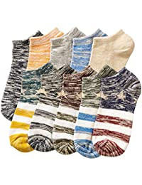 10 pares Calcetines Running para Hombre Cómodo y Respirable del tejido absorbe el sudor, Tamaño 37-43