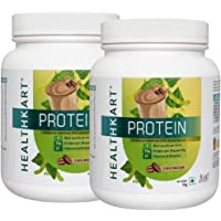 Healthkart Protein- 50% Protein with Whey & Casein (Cafe Mocha)-1Kg-Pack of 2