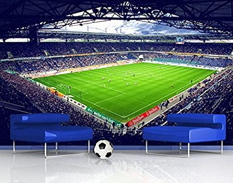 Photo Wall Mural MSV Duisburg® Stadium And Fans, Dimensions:270cm x
