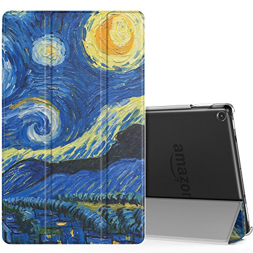 MoKo Case for All-New Amazon Fire HD 10 Tablet (7th Generation, 2017  Release) - Smart-shell Stand Cover with Auto Wake/Sleep & Translucent  Frosted