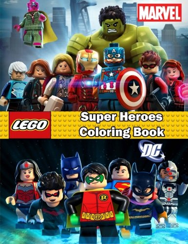 Super Heroes coloring book: Lego Marvel and Dc , this amazing coloring book will make your kids happier and give them joy (ages 4-9)