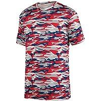 Augusta Sportswear Boys' Mod Camo Wicking Tee S Red Navy Mod