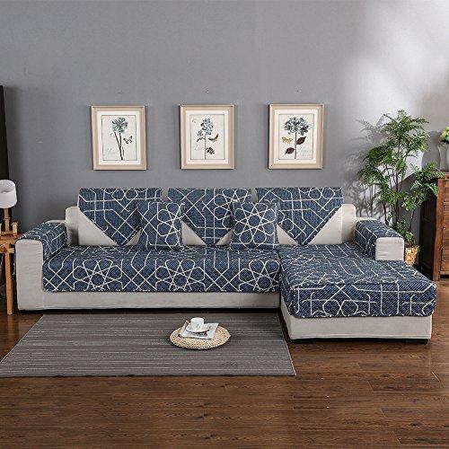 Hotniu copridivano trapuntato 1-pezzo cotone universale copri per sedia divano protector mobili copertura per penisola (chaise longue) sia a destra che sinistra, 70 * 180 cm, modello #aln