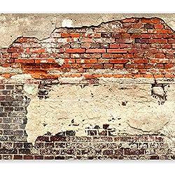 murando - Papier peint intissé 400x280 cm - Papier peint - Trompe l oeil - Tableaux muraux - Déco - XXL - Brique - Mur f-A-0503-a-b
