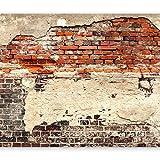 murando - Vlies Fototapete 350x256 cm - Vlies Tapete - Moderne Wanddeko - Design Tapete - Ziegel Ziegelstein f-A-0503-a-b
