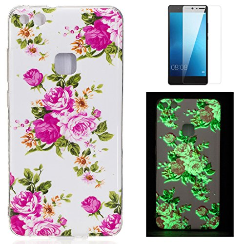 Per Huawei P10 Lite Cover Silicone Luminose e Pellicola Protettiva ,OYIME Disegno Fluorescente Illuminate