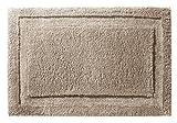 InterDesign 17057EU Spa Weicher Rutschfester Badezimmerteppich aus Mikrofaser, 86x 53 cm, leinenfarben