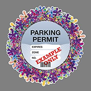 Parking Permit Holder Skin PURPLE FLORAL - Free Postage