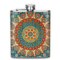 Liquor Flask Mandala Pattern 7 Oz Stainless Steel Flask